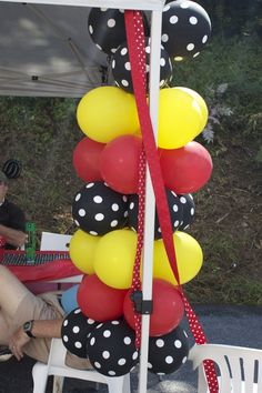 Mickey Mouse Party Balloon Columns
