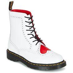 Enhver garderobe bør indeholde et par støvler fra Dr Martens. Bentley Ii Hrt er et perfekt eksempel på støvlen du mangler! Overdelen i hvidt  er klart en stor fordel. For at give ekstra komfort har den en fleksibel ydersål i syntetisk materiale. Der er ingen grund til at snyde dig selv for den! - Farve : Hvid / Rød - Sko Dame 1319,00 Kr