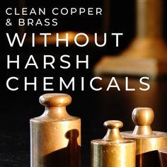 No more harsh chemicals for cleaning your precious brass and copper items. Copper And Brass, Antique Copper, How To Clean Copper, Tarnish Remover, Cleaning Hacks, How To Remove, Antiques, Diy, Tasty