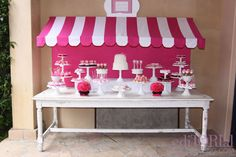 Hello Kitty dessert table - but, you can be inspired by this table for multiple types of parties!