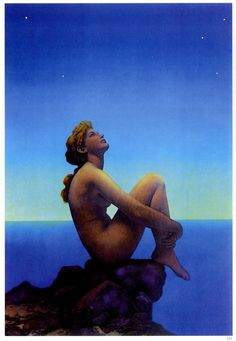 "Stars - Maxfield Parrish, 1926 Reminds me of a song called ""Morning Star"" Parliavox Remix by Flunk"