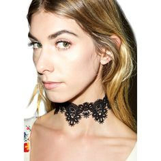 Thick Lace 90s Choker ($15) ❤ liked on Polyvore featuring jewelry, necklaces, choker necklaces, floral necklace, lace choker, lace choker necklace and lace necklace