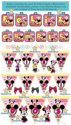 Kit Imprimible Minnie Mouse en la Casa de Mickey Mouse Club House ...