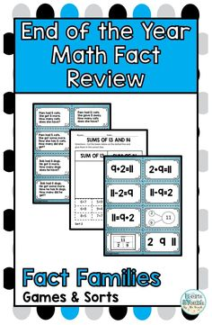 Do you need activities to review fact families with problem solving? Play these math games and and use the math sorts to practice math fact fluency with fact families. #factfamilies #mathfactfluency #learnandteachbythebeach
