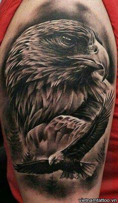 Bald Eagle Tattoos, Eagle Head Tattoo, Hawk Tattoo, Skull Girl Tattoo, Head Tattoos, Wolf Tattoos, Animal Tattoos, Body Art Tattoos, Celtic Tattoos
