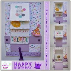 Cómo hacer una tarjeta en cascada para cumpleaños: ¡Muy original!