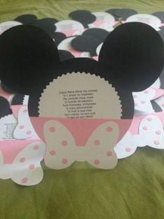 Invitatie botez fetita Minnie roz