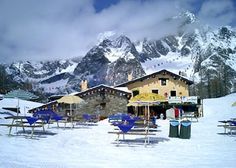 The amazing Maison Vieille in Courmayeur, Italy.