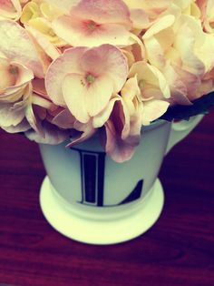 Mugs make great vases - especially personalized or monogrammed