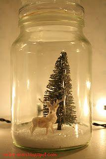 Beautiful Christmas jar by nellie dean.  - Dit ga ik dit jaar zeker eens maken! :-)