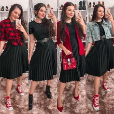 Modest Casual Outfits, Modest Fashion, Stylish Outfits, Girl Fashion, Fashion Dresses, Cute Outfits, Spring Outfits Women, Outfits For Teens, Cute Church Outfits
