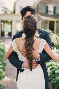 Romantic #bridalbraids make us happy. Photography: Lauren + Tim Fair - www.laurenfairphotography.com  View entire slideshow: 15 Bridal Braids We Adore at http://www.stylemepretty.com/2014/05/06/15-bridal-braids-we-adore/