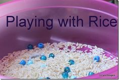 A sensory activity for young toddlers!