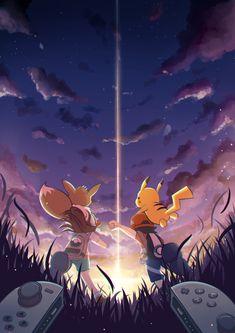 Pokemon let's go eevee y let's go pikachu Pikachu Pikachu, Pokemon Mew, Pokemon Girls, Pokemon Fan Art, Pokemon Especial, Pokemon Universe, Nintendo, Pokemon Pictures, Animes Wallpapers
