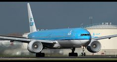 PH-BVA KLM 777-300ER taking off with fogged-in engines. only at EHAM Schiphol. by nustyR AirTeamImages, via Flickr