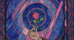 Beauty and the Beast Rose Stained Glass PDF by CSDesignsbyLeah, $5.00
