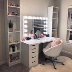 10 Feminine Makeup Room Decor Ideas You Will Love - Talkdecor