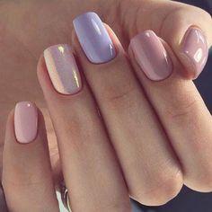 How to choose the shape of nails? - My Nails Perfect Nails, Gorgeous Nails, Vernis Rose Gold, Stylish Nails, Trendy Nails, Nail Selection, Orange Nails, Purple Shellac Nails, Glitter Nails