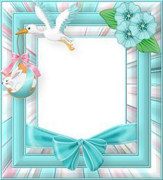 Blue Easter Frame