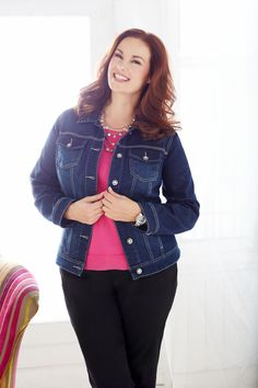 One of our favorites! The denim jacket is perfect for all year round.
