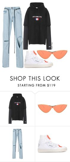 """#1246"" by dayal-may on Polyvore featuring Vetements, Le Specs, Off-White, offwhite, lespecs, vetements and AdamSelman"