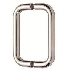 """Mont Hard 8"""" Back to Back Tubular Pull in Chrome Finish for Heavy Glass Frameless Shower Doors by Rockwell. Save 34 Off!. $25.00. Mont Hard 8"""" Back to Back Tubular Pull in Chrome Finish for Heavy Glass Frameless Shower Doors"""