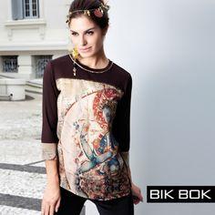 Mistura de tendências.... Boho Anos 70 e Dark Romance da Bik Bok Inverno 2015. #fashion #bikbok