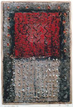 D-31.Aug.1996 43.5x29.6cm Mixed media/paper making,painting, collage  林孝彦 HAYASHI Takahiko 1996