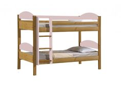 http://www.bonsoni.com/maximus-bunk-bed-3ft-antique-with-pink-details   Single Macau bunk bed 3ft Single in solid pine. Colour antique pine finish with pink mdf details. Slatted bases included.    http://www.bonsoni.com/maximus-bunk-bed-3ft-antique-with-pink-details