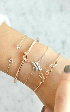 Cute Bracelet Set Knot Crystal Heart Love Cactus Bangle in Gold for Women Statem. - Cute Bracelet Set Knot Crystal Heart Love Cactus Bangle in Gold for Women Statem… - Simple Bracelets, Cute Bracelets, Fashion Bracelets, Bangle Bracelets, Diamond Bracelets, Diamond Earrings, Silver Bracelets, Statement Bracelets, Statement Jewelry