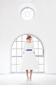 Shelly tea length wedding dress with petticoat and by nonimode, €1550.00