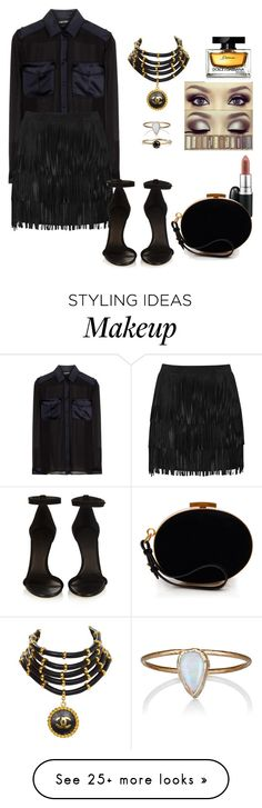"""""""All black"""" by cinthyacanestro on Polyvore featuring Tom Ford, Alice + Olivia, Chanel, Dolce&Gabbana, Julie Wolfe, Isabel Marant and Nina Ricci"""