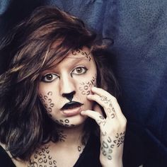 This is meeeeeeee! I'm doing a leopard inspired look! As you can see I love to do animal inspired makeup looks!