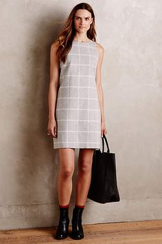 Checkpane Shift Dress available on anthropologie.com