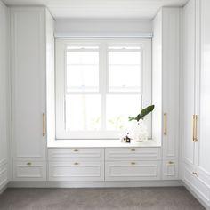 Walk-in-robe - Three Birds Renovations House Bonnies Dream Home Dressing Room Design, Bedroom Inspirations, Small Bedroom Storage, Bedroom Interior, Joinery Design, Log Home Kitchens, Bedroom Closet Design, Built In Robes, Build A Closet