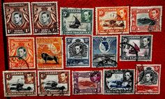 Kut stamps GVI-QEII SG131-SG171 ni 1937-54 m/fu....going for just 1 penny
