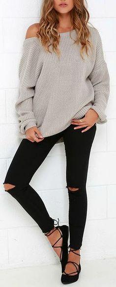 Island Ferry Taupe Sweater - #lovelulus solo el sueter