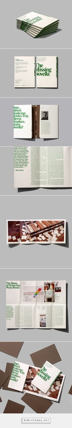 Oakville Galleries: The Missing Novella on Behance... - a grouped images picture…