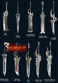 I could use these as concept swords for art designs