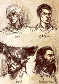 Warm-up portraits, about 10 minutes each.Glorious beards and disgusted noises FTW. Figured I haven't yet done portraits of some of my other favorite characters from DA:I (TO BE HONEST I LOVE THEM ALL,HELP).