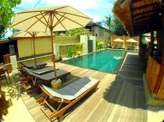 The Beach House Resort Bali Lombok, Gili Trawangan, Resort Villa, Wedding Honeymoons, Heaven On Earth, Beach House, Places To Visit, Deck, Patio