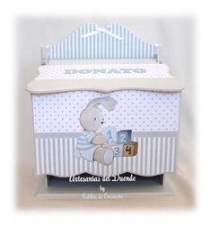 Baby Deco, Baby Shower, Decoupage, Toddler Bed, Furniture, Ideas, Home Decor, Decorated Boxes, Cartonnage