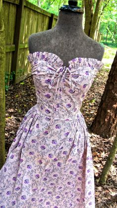 1940s lavender dress  Louella Ballerino by mkmack on Etsy, $96.00