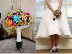 vintage brooch bouquet can be personalized, photo by alice hu