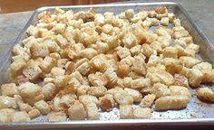 Sourdough Garlic, Sourdough Croutons, Sourdough Baking, Homemade ...