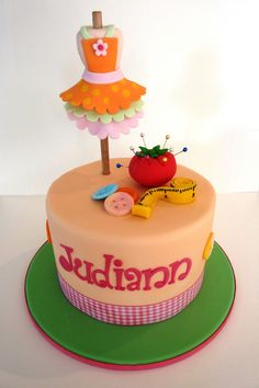 Dress maker's cake. By Vanilla Lily Cake Designs.
