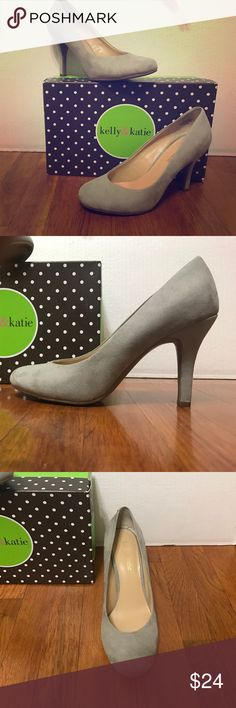 KELLY & KATIE Shoe Style: Isabel                                                                 Color: Grey                                                                            Material: Suede                                                                   Size: 7.5 Kelly & Katie Shoes Heels