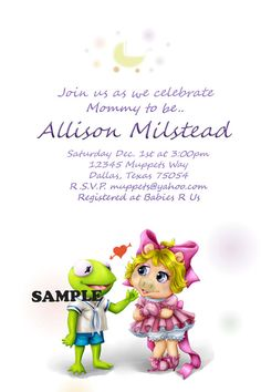 Muppets Baby Shower Invitation!
