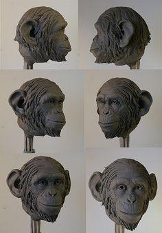 chimp sculpt