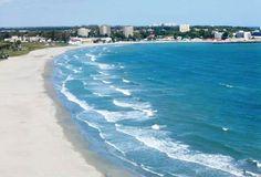 White sand Venus Beach on the Black Sea Romania